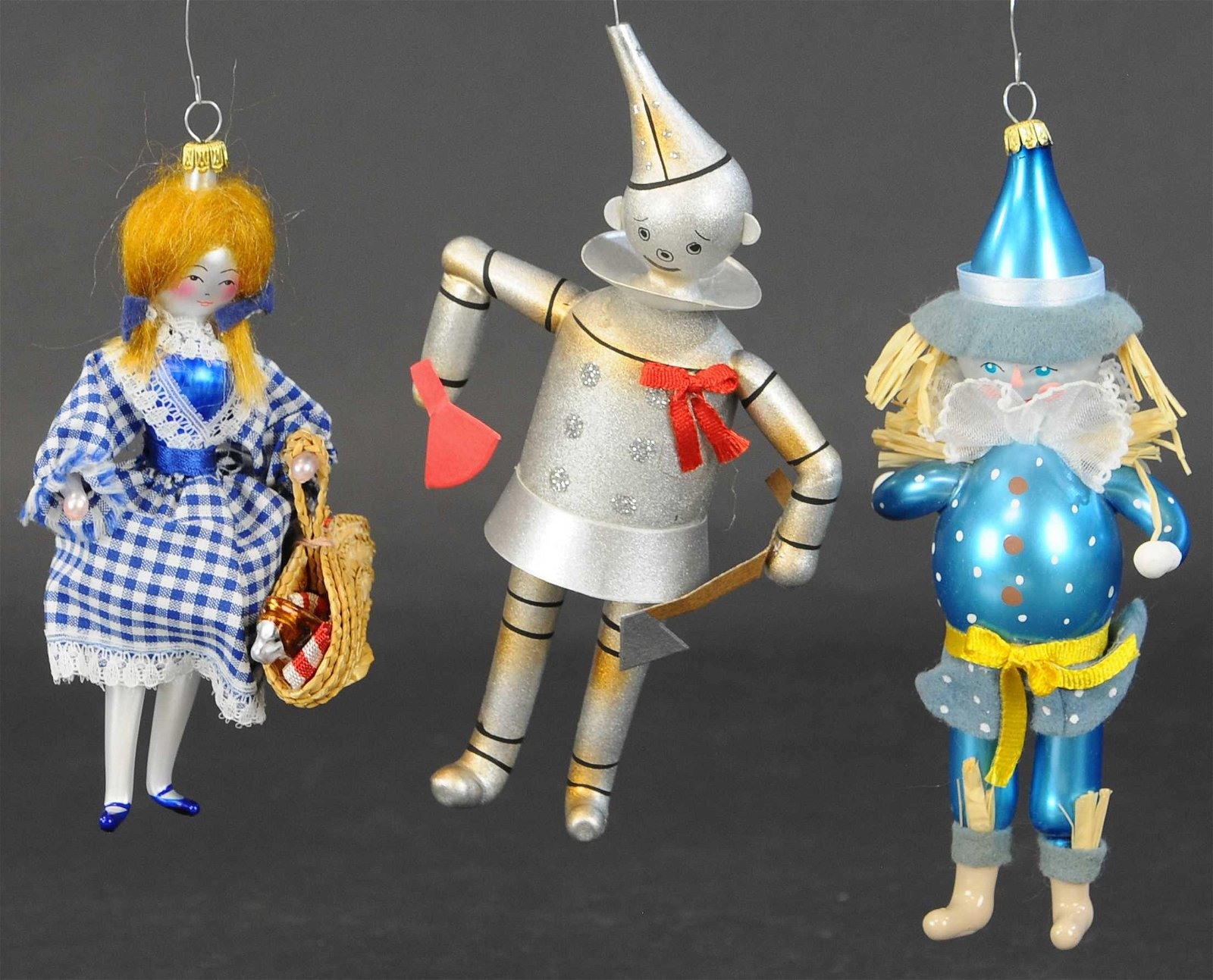 WIZARD OF OZ ITALIAN GLASS ORNAMENTS