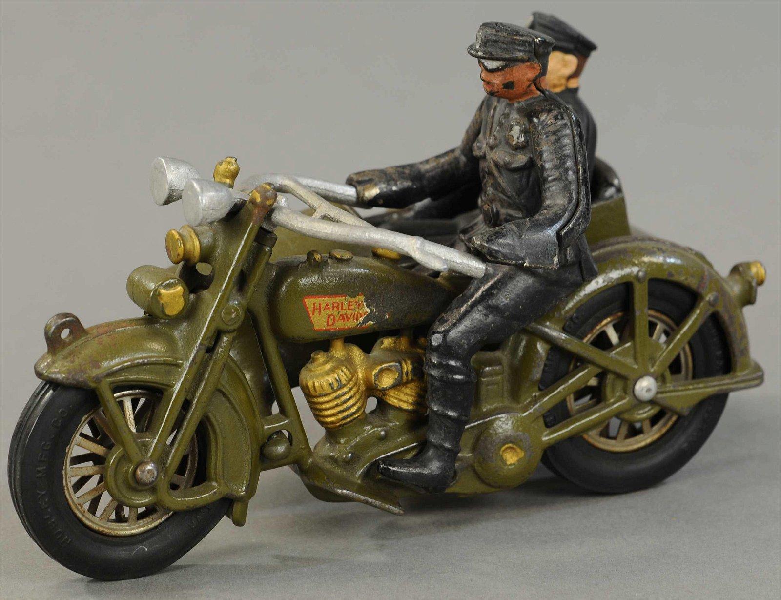 HUBLEY HARLEY DAVIDSON SIDECAR MOTORCYCLE