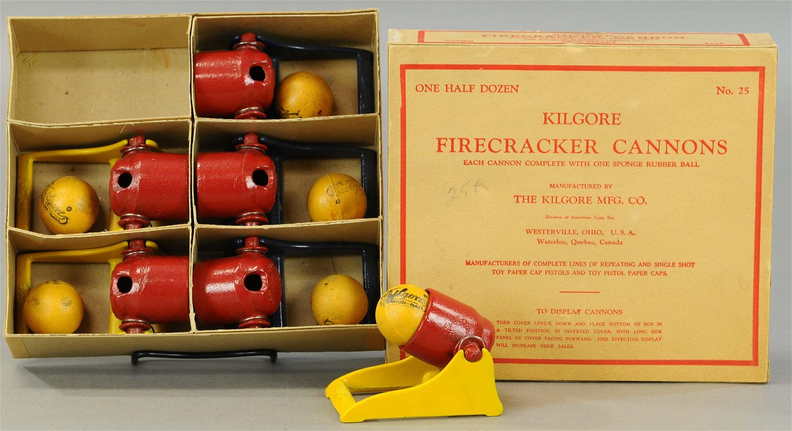 BOXED KILGORE FIRECRACKER CANNONS SET