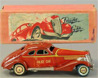 BOXED PRE-WAR JAPAN KURAMOCHI POLICE CAR
