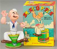BOXED LINEMAR BATTERY OPERATED SMOKING POPEYE