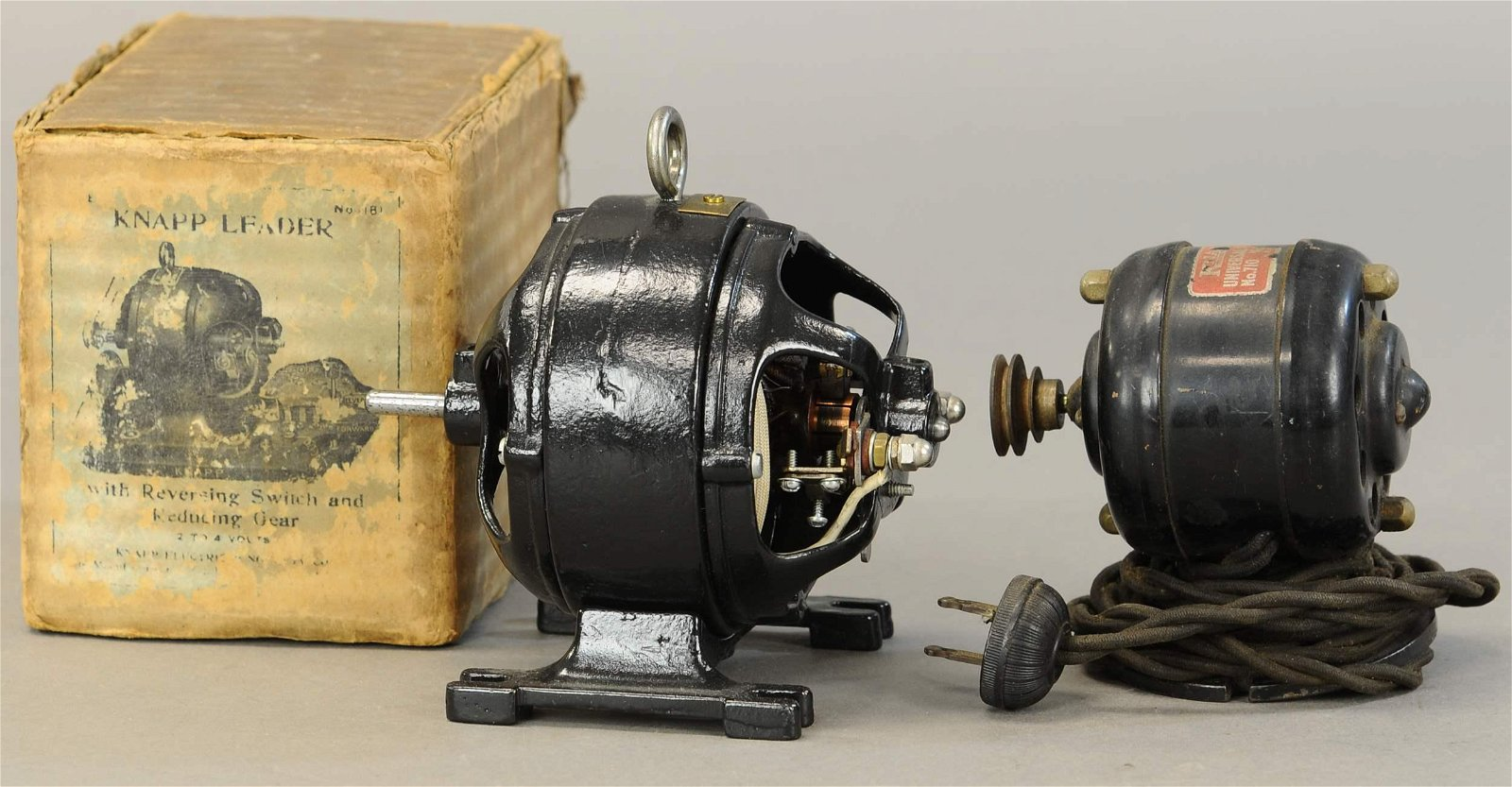 TWO LARGE KNAPP ELECTRIC MOTORS