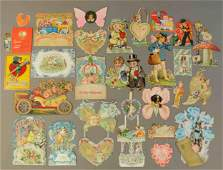 GROUPING OF TWENTY EARLY VALENTINE CARDS