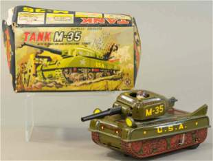 BOXED BATTERY-OP M35 TANK