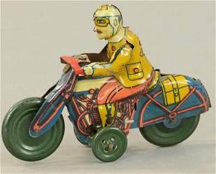SMALL GERMAN TIN MOTORCYCLE