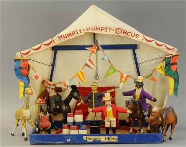 MEDIUM BOXED SCHOENHUT HUMPTY DUMPTY CIRCUS SET