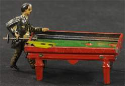 KELLERMAN BILLIARDS PLAYER PENNY TOY