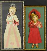 TWO FRAMED DIE-CUT CHRISTMAS ORNAMENTS