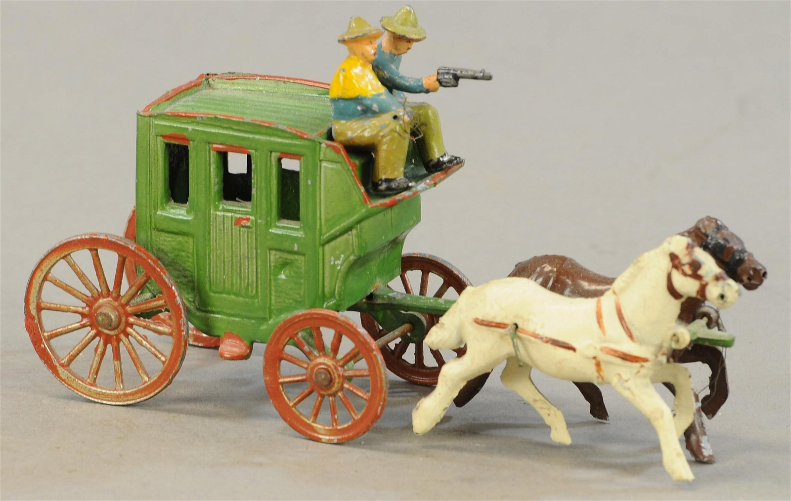 FRENCH LEAD HORSE DRAWN CARRIAGE