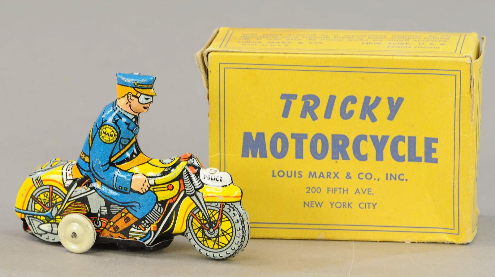 BOXED MARX TRICKY MOTORCYCLE