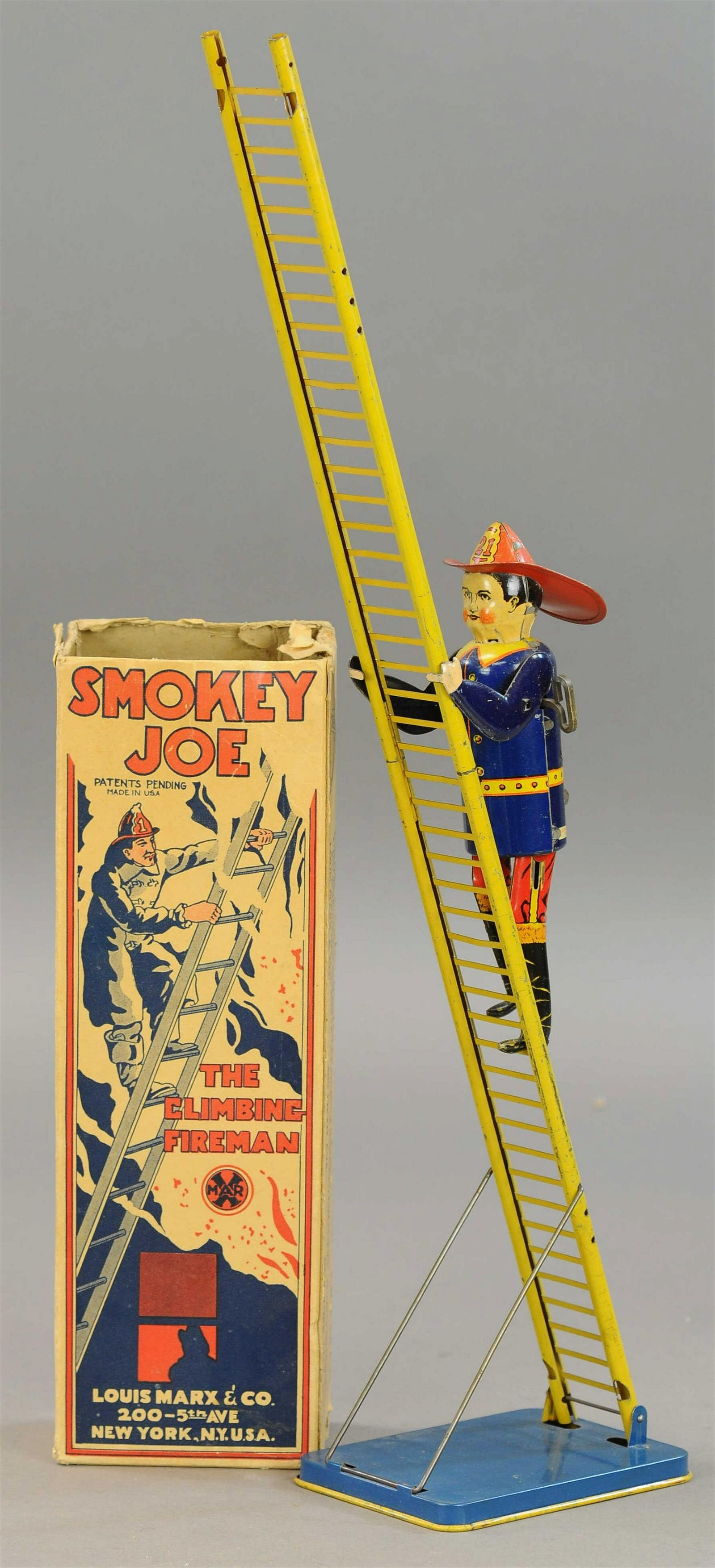 BOXED MARX SMOKEY JOE THE FIREMAN