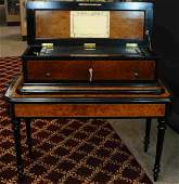 LARGE C PAILLARD MUSIC BOX ON STAND