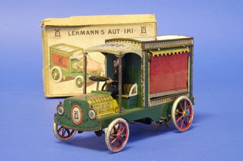 284: LEHMANN BOXED ''IHI'' MEAT DELIVERY TRUCK