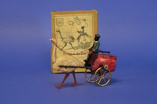 300: LEHMANN BOXED ''AFRICA'' OSTRICH MAIL CART