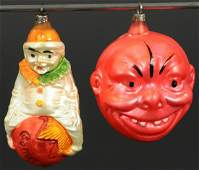 GRINNING CHINESE MAN  CLOWN ON A BALL