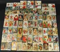 GROUPING OF 79 CHRISTMAS POSTCARDS