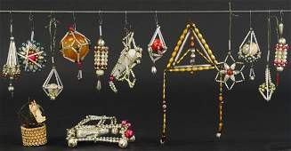 GROUPING OF SLOVOKIAN CHRISTMAS TREE ORNAMENTS
