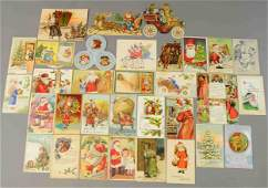 INTERESTING GROUPING OF CHRISTMAS CARDS  DIECUTS