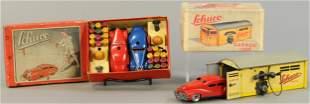 TWO BOXED SCHUCO AUTO GARAGE SETS