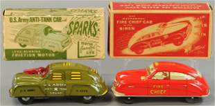 BOXED COURTLAND ARMY & FIRE AUTOS