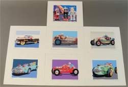 GROUP OF LITHOGRAPH PRINTS - ANTIQUE TOYS