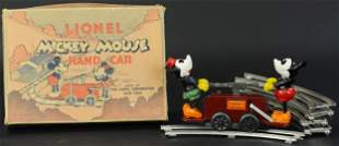 BOXED LIONEL MICKEY MOUSE HAND CAR