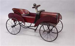 1569: KEYSTONE PEDAL CAR WITH BUTTERFLY FENDERS