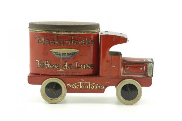 "1954: HUDSON SCOTT & SONS ""MACKINTOSH"" TOFFEE TIN"
