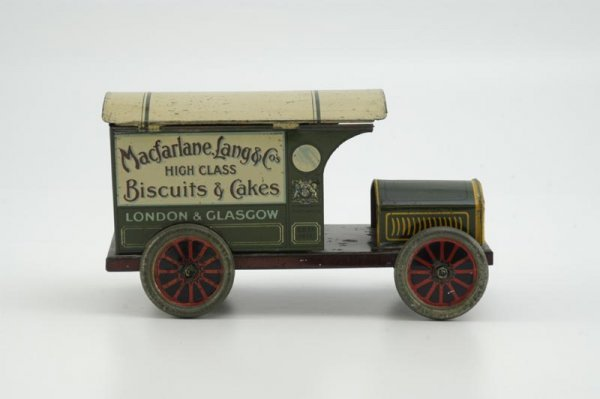 1955: MACFARLANE, LANG & CO. BISCUIT DELIVERY TIN