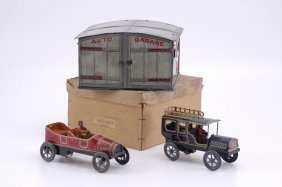 1967: BOXED GARAGE WITH AUTOS