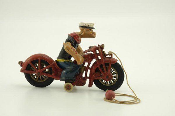 HUBLEY POPEYE ON PATROL MOTORCYCLE