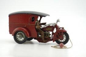 "2402: HUBLEY ""FLOWER SHOPPE"" INDIAN DELIVERY VAN MOTORC"