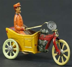 KELLERMAN MOTORCYCLE CART PENNY TOY