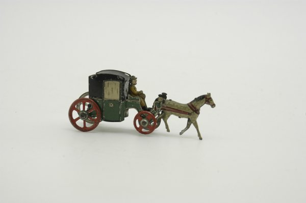 685: HORSE DRAWN CAB PENNY TOY