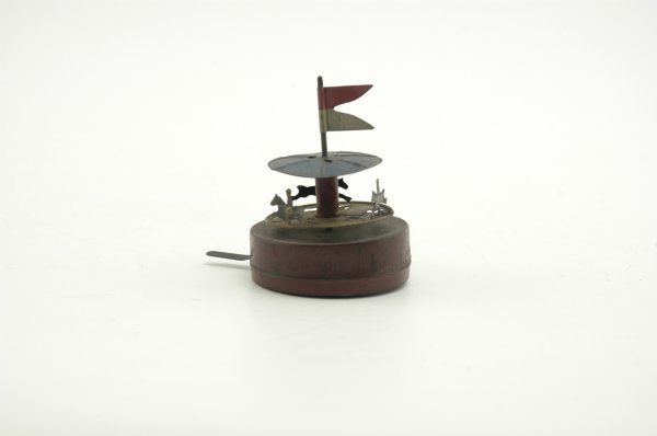 689: MINIATURE TABLE TOP CAROUSEL TOY