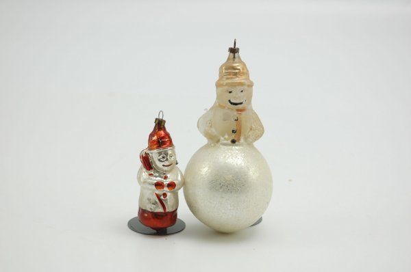 1548: LOT OF TWO SNOWMEN ORNAMENTS
