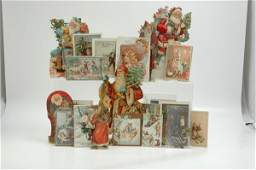 1920 LARGE GROUPING OF PAPER CHRISTMAS ITEMS