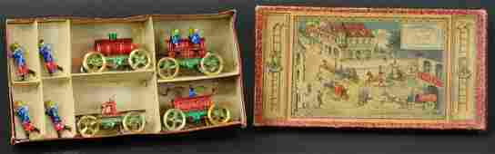 MEIER FIRE BRIGADE PENNY TOY BOXED SET