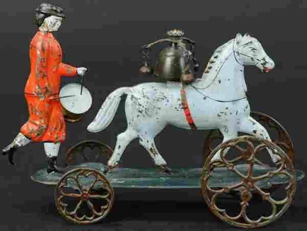BERGMANN HORSE & DRUMMER BELL TOY