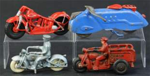 GROUPING OF TOY MOTORCYCLES
