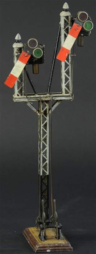 MARKLIN DOUBLE SEMAPHORE WITH OIL LAMPS