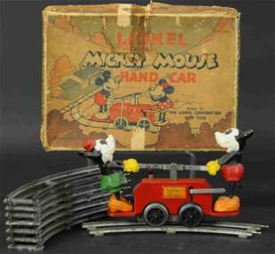 LIONEL #1100 MICKEY MOUSE IN RED