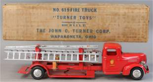 BOXED TURNER TOYS NO. 619 FIRE TRUCK