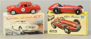 TWO BOXED TOGI ALFA ROMEO CARS