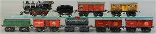 IVES NO. 20 LOCO AND FREIGHT CARS