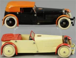 TWO MECCANO AUTOS - CONVERTIBLE & SEDAN