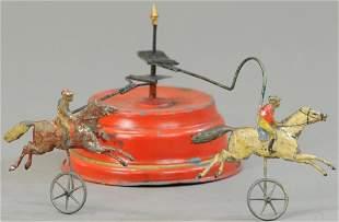 GERMAN TIN HORSE RACE TOY