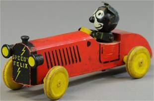 SPEEDY FELIX WOODEN RACE CAR