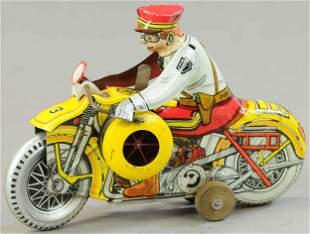 MARX MECHANICAL POLICE SIREN MOTORCYCLE