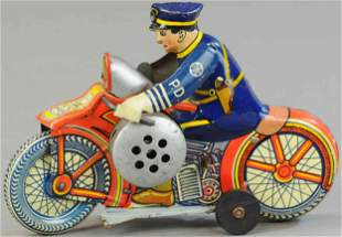 MARX MECHANICAL POLICE MOTORCYCLE